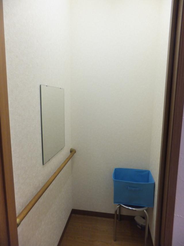 完全個室の内カギつきの更衣室。