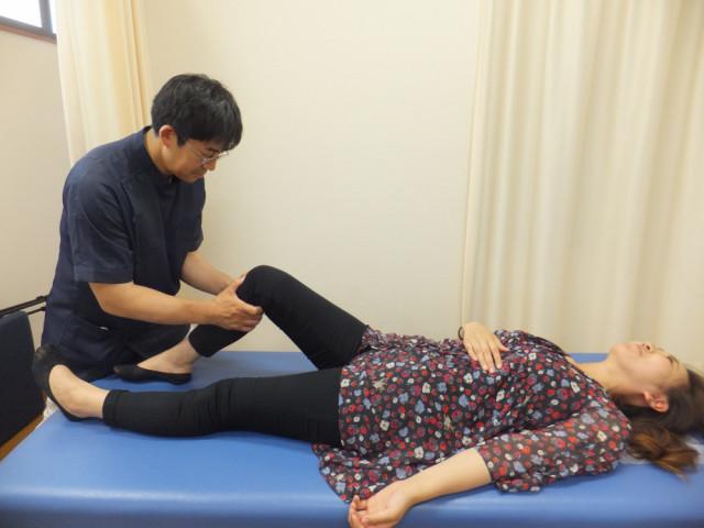 関節調整の一例:膝